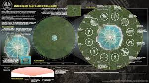 Hunger Games World Map by Alternacoppa 75th Hunger Games Arena Visual Guide