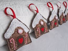 gingerbread ornaments felt gingerbread house ornaments hmh designs