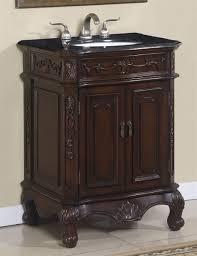 26 inch single sink bath vanity with english brown ganite top