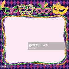 mardi gras frames seamless shiny mardi gras necklace vector getty images