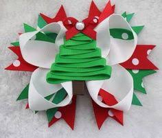 christmas hair bows diy classic christmas gift bow hair bow made with grosgrain ribbon