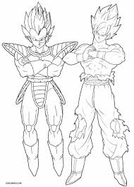 printable goku coloring pages kids cool2bkids