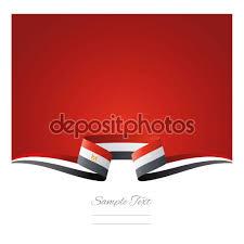 Eygpt Flag Zusammenfassung Hintergrund ägypten Flagge Band U2014 Stockvektor
