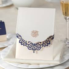 chagne wedding favors aliexpress buy laser cut wedding invitations with blue