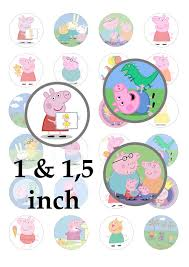 sale instant download peppa pig digital images 1 5 inches 1