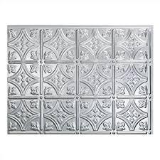 Amazoncom Fasade Easy Installation Traditional  Brushed - Aluminum backsplash