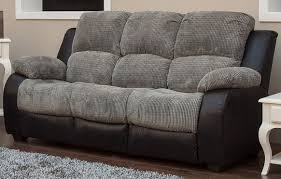 Recliner 3 Seater Sofa 3 Seater Reclining Fabric Sofa Charcoal