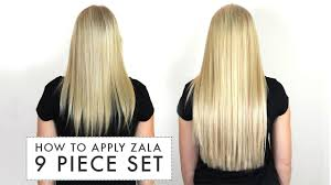 zala clip in hair extensions how to apply zala 9 set of clip in hair extensions
