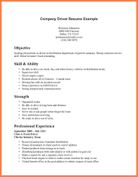 Resume Samples For Truck Drivers by 7 Company Resume Template Company Letterhead