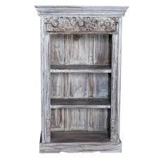 whitewash carved bookcase vintage carved bookcase indian