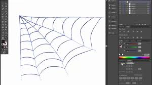 how to draw spider web for halloween card or invitation adobe