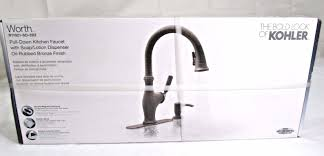 kitchen faucets oil rubbed bronze finish kohler worth single handle pull down sprayer kitchen faucet oil