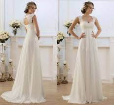 chiffon wedding dress 2018 white ivory chiffon wedding dress bridal gown stock size 6 8