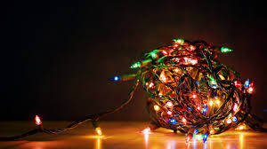 christmas tree lights on wall wallpaper