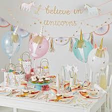 unicorn party supplies meri meri unicorn party collection crate and barrel