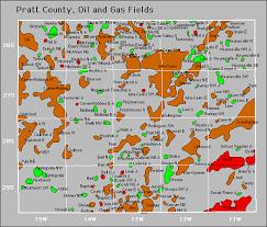 pratt map pratt county and gas production