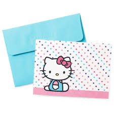 hello kitty blank note cards pack of 10 note cards hallmark