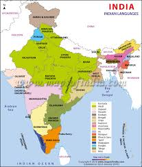 map in languages in india map scheduled languages states official