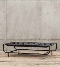 jax x base industrial rectangular coffee table with tray zin