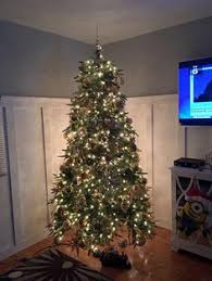 artificial christmas tree 7 5 ft blue spruce xmas trees lights