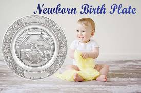 pewter birth plates personalized newborn birth plate pewter baby gift