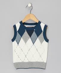 roberta di roma white u0026 teal argyle sweater vest toddler u0026 boys
