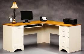Menards Computer Desks Sauder Harbor View Antique White Corner Computer Desk At Menards