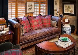Decorating Ideas With Burgundy Leather Sofa Plaid Sofas 30 With Plaid Sofas Jinanhongyu Com