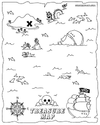 treasure map coloring pages to and print treasure