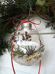 make your own snow globe ornament fabdiy