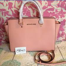 light pink michael kors handbag off michael kors handbags michael kors light pink large selma