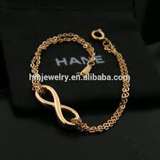 chain love bracelet images Stainless steel infinity bracelet double chain love bracelet jpg