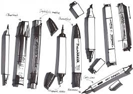 which brands of markers are the best choice for interior sketching