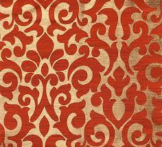 Burnt Orange Curtains Custom Curtains With Burnt Orange Gold Damask Pattern One