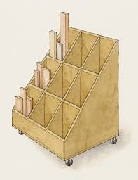 Storage Shelf Wood Plans by Workshop Lumber Storage Racks At Woodworkersworkshop Com