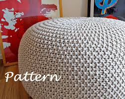 Crochet Ottoman Pattern Knitting Pattern Knitted Pouf Pattern Poof Knitting Ottoman