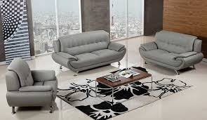 Genuine Leather Living Room Sets Room Sets Faux Leather And Genuine Leather Gray Leather Living