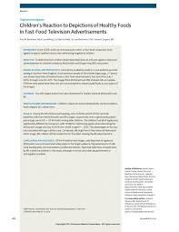 healthy foods in fast food advertisements media and youth jama