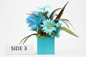 custom unique home décor silk flower arrangement coffee table