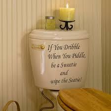 Creative Home Decor Toilet Seat Stickers Funny Bathroom Decoration