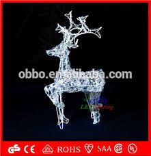 acrylic reindeer with sleigh christmas lighting buy new style