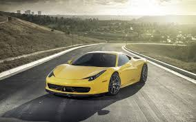 Ferrari 458 Gold - uhd 2560x1080 wallpaper ferrari 458 italia yellow side view