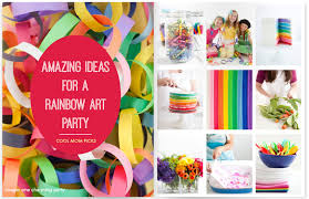 how to throw a rainbow art party ideas with a creative twist