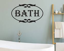 Mirror Decals For Bathrooms - bathroom wall decal etsy