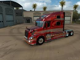 red volvo truck volvo american truck simulator mods part 4