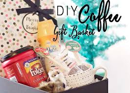 coffee gift baskets diy coffee gift basket the house of plaidfuzz