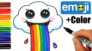 Drooling Rainbow Meme - how to draw a cloud puking rainbow cute and easy youtube