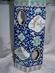 Chinese Hand Painted Porcelain Vases Vintage Chinese Hand Painted Porcelain Tall Vase