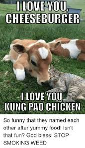 I Love L Meme - l love you cheeseburger i love you kung pao chicken so funny that