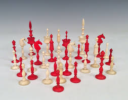 antique early 19th century selenus chess set richard gardner